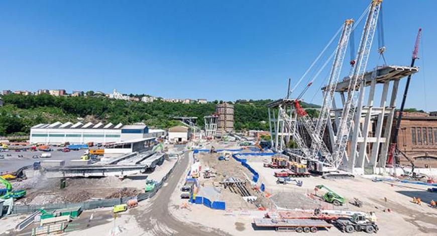 Genova: innalzato il secondo impalcato del nuovo ponte
